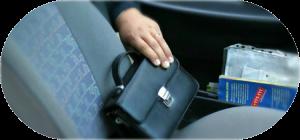 Кража имущества в машине